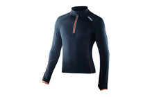 2XU Men's 3/4 Zip Thru Run Top black/flame orange